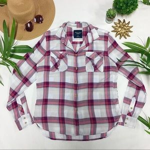 AEO Pink Button Down